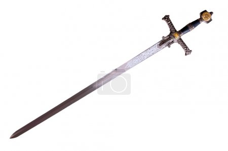 Fantasy medieval sword isolated on white backgroun...