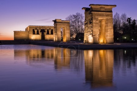 Egiptian temple reflection at night...