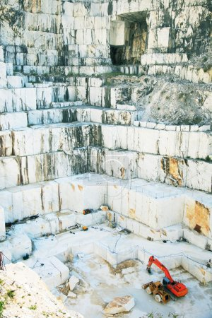 Photo for White marble quarry Carrara in Italy. - Royalty Free Image
