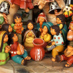 Ancient ceramic sculptures...