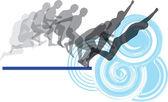 Jumping secuence vector illustration made in adobe illustrator