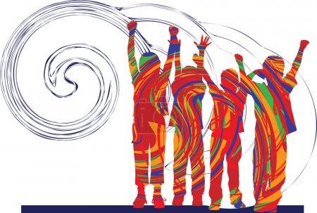Friends. Vector Illustration