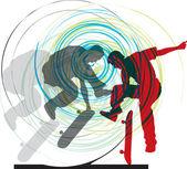 Skater illustration Vector illustration