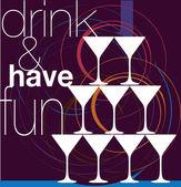 Drink & have fun Vector Illustration