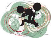 Abstract sketch of biker Vector Illustration made in adobe illustrator