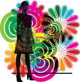 Businesswoman illustration made in adobe illustrator