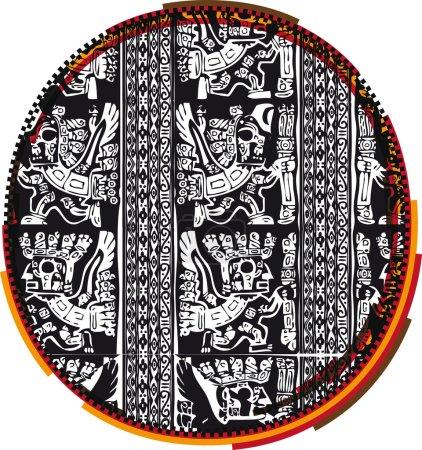Incas font, vector illustration