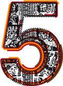Incas font vector illustration