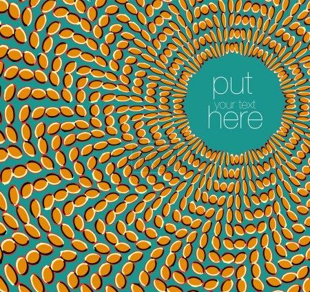 Illustration pour Effet optique du mouvement. Illustration vectorielle réalisée en adobe illustrateur - image libre de droit