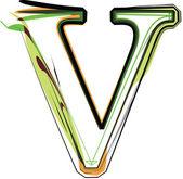Organic Font illustration Vector illustration made in sdobe illustrator