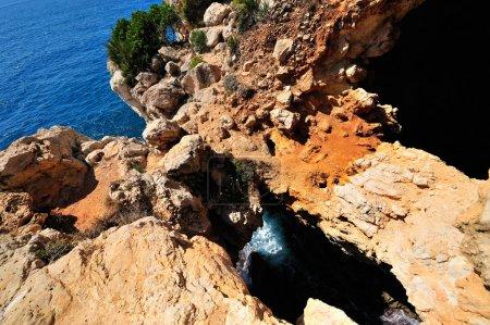 View of gorgeous Mediterranean coast