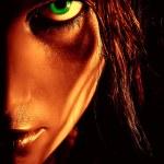 Closeup portrait of wild girl...