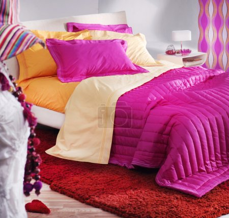 Colorful female bedroom