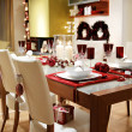 Christmas dinner , interior