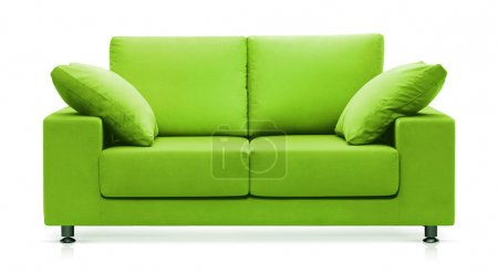 Photo for Isolated modern green couch - Royalty Free Image