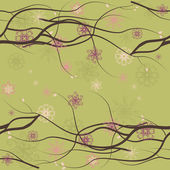 Seamless floral background with branches 3