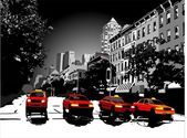 Night taxi all vector