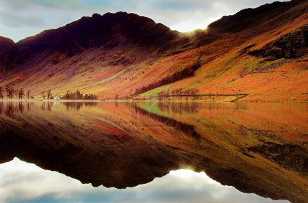 Photo for Reflections on Buttermere - Lake District, England - Royalty Free Image