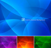 A set of colorful abstract background Each background separately on different layers Available in 4 different colors and created in RGB mode