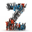 Letter Z, alphabet from pile of 3D letters...