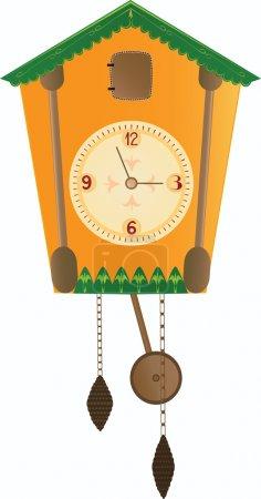 Vector yellow cuckoo clock
