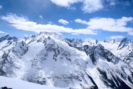 Beautiful high mountains of the Caucasus
