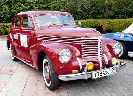 Classic old car red