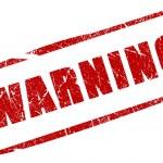 Warning stamp isolated on white background...