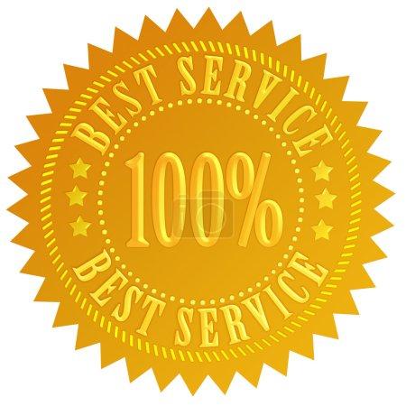 Photo pour Meilleur service joint d'or isolé sur fond blanc - image libre de droit