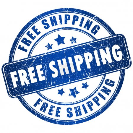 Photo for Free shipping stamp - Royalty Free Image