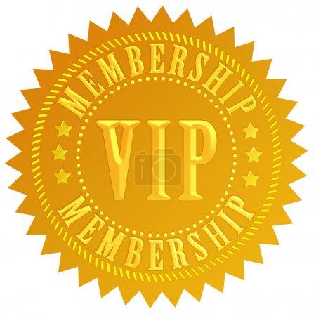 Photo for Vip membership gold seal - Royalty Free Image