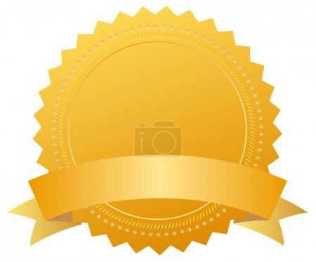 Photo pour Médaille du prix blanc avec ruban - image libre de droit