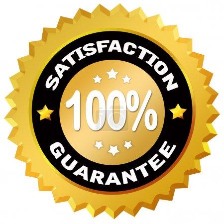 Photo pour Étiquette garantie 100 % de satisfaction - image libre de droit