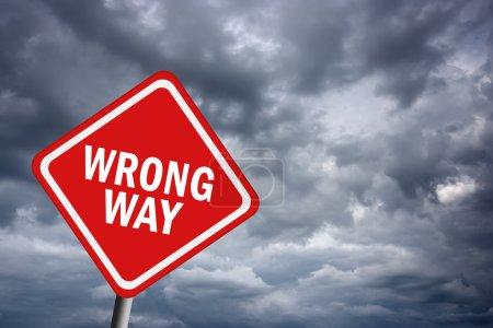 Photo pour Panneau de signalisation de manière erronée - image libre de droit