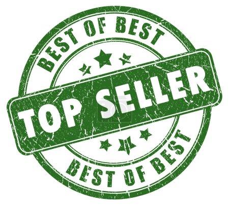 Photo pour Timbre de meilleures ventes isolé sur fond blanc - image libre de droit