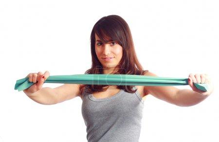Gymnastic with elastic band