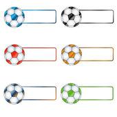 Six multi-colored balls