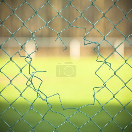 Photo for Cut fence background - Royalty Free Image