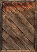 Staré dřevěné diagonální latí v rámci