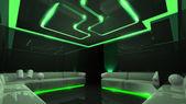 Green electronic luxury room