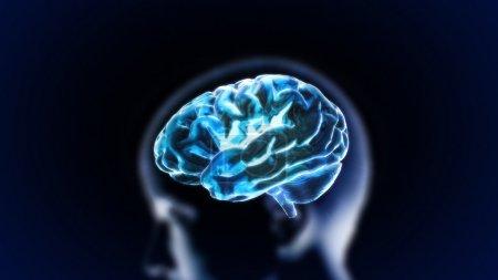 Photo pour Le rendu de cerveau de cristal concept médical et biologie - image libre de droit