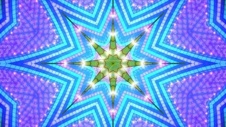 Cyan tone star background