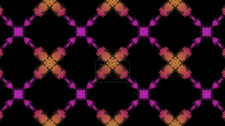 Orange and purple pattern disco background