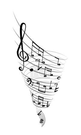 Illustration pour Vortex musical - image libre de droit
