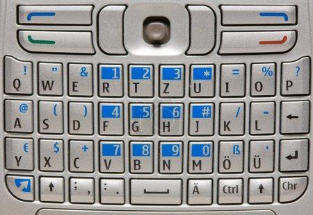 Mobile phone keyboard.