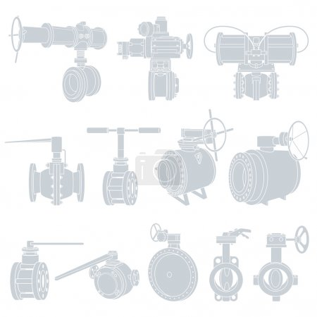 Illustration for Contour of valve. Vector illustration - Royalty Free Image