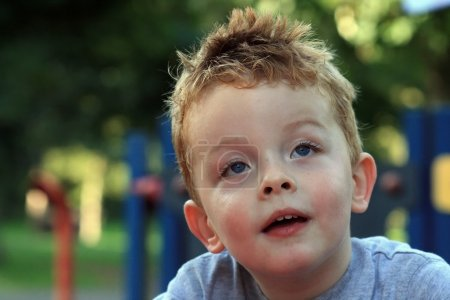 Little boy at the park