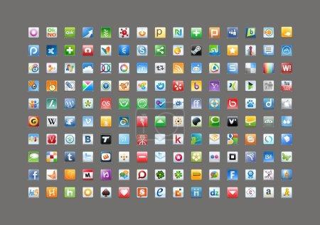 Social media classic icons