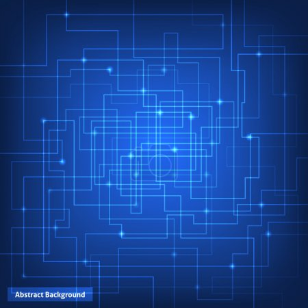 Illustration for Blue virtual technology circuit background - Royalty Free Image