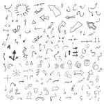 Vector hand drawn arrows collection...